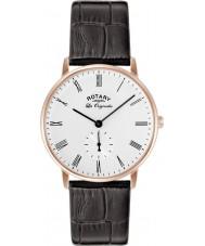 Rotary GS90053-01 Mens Les Originales Kensington Rose Gold Black Watch