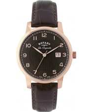 Rotary GS90077-04 Mens Les Originales Brown Leather Watch