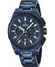 Festina F16973-1 Mens Chrono Bike Blue Steel Chronograph Watch