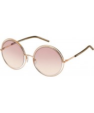 Marc Jacobs Ladies MARC 11-S TXA 05 Gold Brown Sunglasses