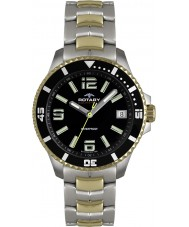 Rotary AGB00076-W-04 Mens Aquaspeed Black Steel Gold Watch