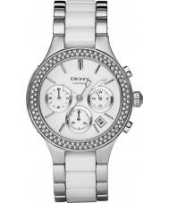 DKNY NY8181 Ladies Chambers Cerami Silver Chronograph Watch