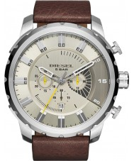 Diesel DZ4346 Mens Stronghold Chronograph Brown Leather Strap Watch