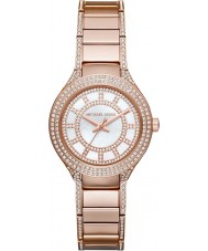 Michael Kors MK3443 Ladies Mini Kerry Stone Set Rose Gold Plated Watch