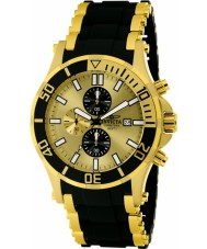 Invicta 1478 Mens Sea Spider Gold and Black Chronograph Watch