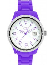 LTD Watch White Purple Plastic Watch