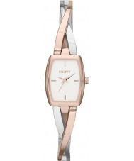 DKNY NY2236 Ladies Crosswalk Rose Gold Silver Watch