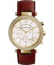Michael Kors MK2249 Ladies Parker Brown Leather Strap Chronograph Watch
