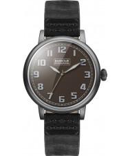 Barbour BB042BKBK Mens Hawkins Black Leather Strap Watch