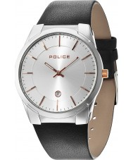 Police 14211JS-04B Mens Target Black Leather Strap Watch