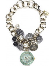 Accessorize J1009 Ladies Cluster Charm Bracelet Watch