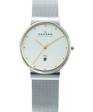 Skagen 355LGSC Mens Klassik White and Silver Mesh Watch