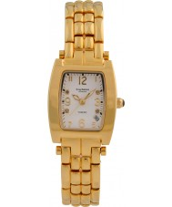 Krug-Baumen 1963DLG Tuxedo Gold 4 Diamond White Dial Gold Strap