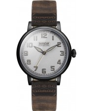 Barbour BB042SLBR Mens Hawkins Brown Leather Strap Watch