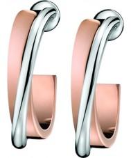 Calvin Klein KJ63BE010100 Ladies Coil Steel and Rose Gold Plated Earrings
