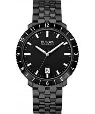 Bulova 98B218 Mens BA II Black Steel Bracelet Watch