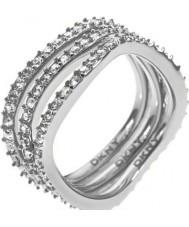 DKNY NJ1919040-508 Ladies Triple Band Stacker Ring - Size P