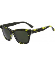 Valentino Ladies V670SS Fluo Yellow Army Green Sunglasses