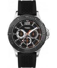 Timex TW2P87500 Mens Taft Street Black Silicone Strap Watch