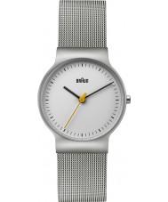 Braun BN0211WHSLMHL Ladies Classic Slim Silver Steel Mesh Bracelet Watch