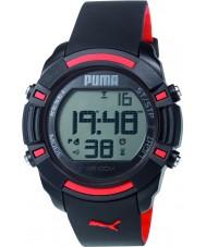 Puma PU911221001 Bytes Black Silicone Strap Chronograph Watch