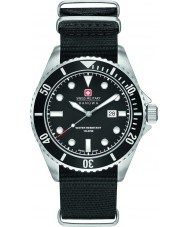 Swiss Military 6-4279-04-007-07 Mens Sea Lion Black Nylon Strap Watch