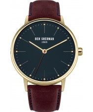 Ben Sherman WB009BRG Mens Portobello Touch Burgundy Leather Strap Watch