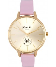 Ma-Ga London WWB3 Ladies Billy Bones Maida Vale Pastel Pink Leather Watch