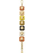 Orla Kiely B4795 Ladies Dasiy Chain 18ct Gold Multi Coloured Flower Bracelet