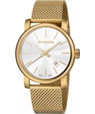 Wenger 01-1041-120 Mens Urban Vintage Gold Plated Mesh Bracelet Watch