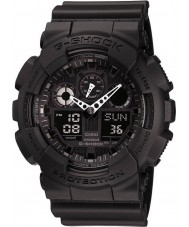 Casio GA-100-1A1ER Mens G-Shock Auto LED Light All Black Watch