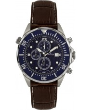 Rotary AGS00070-C-05 Mens Aquaspeed Blue Brown Chronograph Watch