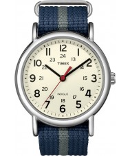 Timex T2N654 Mens Blue Grey Weekender Slip Through Watch