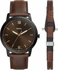 Fossil FS5557SET Mens Minimalist Watch and Bracelet Gift Set