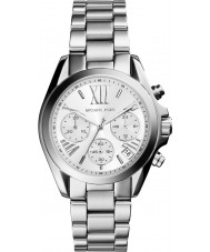 Michael Kors MK6174 Ladies Mini Bradshaw Silver Chronograph Watch