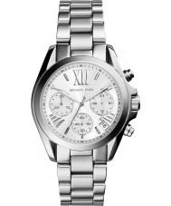 Michael Kors MK6174 Ladies Mini Bradshaw Silver Chronograph Watch