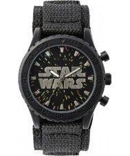 Disney STW1301 Boys Black Velcro Watch with Starry Dial