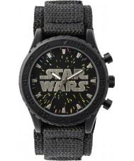 Star Wars STW1301 Boys Black Velcro Watch with Starry Dial