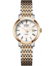 Rotary LB90155-01 Ladies Les Originales Windsor Two Tone Rose Gold Plated Watch