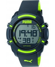 Puma PU911221003 Bytes Black Silicone Strap Chronograph Watch
