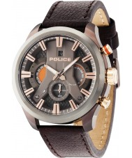 Police 14639JSBZU-61 Mens Cyclone Brown Leather Strap Watch