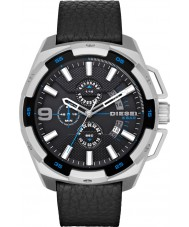 Diesel DZ4392 Mens Heavyweight Black Leather Chronograph Watch