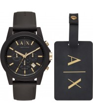 Armani Exchange AX7105 Mens Sport Watch Gift Set