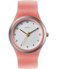 Braun BN0111WHPKL Ladies Sports Neon Peach Silicone Strap Watch