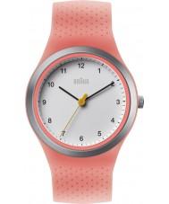 Braun BN0111WHPKL Ladies Sports Neon Peach Silicone Strap Watch