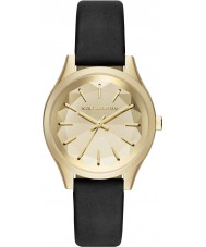 Karl Lagerfeld KL1617 Ladies Belleville Black Leather Strap Watch