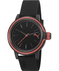 Puma PU103772001 Ultraviolet Black Silicone Strap Watch