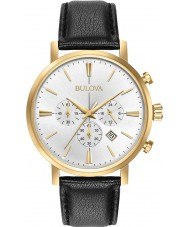 Bulova 97B155 Mens Aerojet Gold Black Chronograph Watch