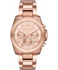 Michael Kors MK6367 Ladies Brecken Rose Gold Plated Chronograph Watch