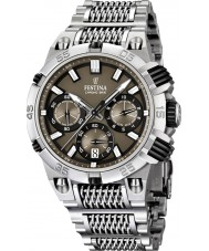 Festina F16774-3 Mens 2014 Chrono Bike Tour De France Brown Silver Watch